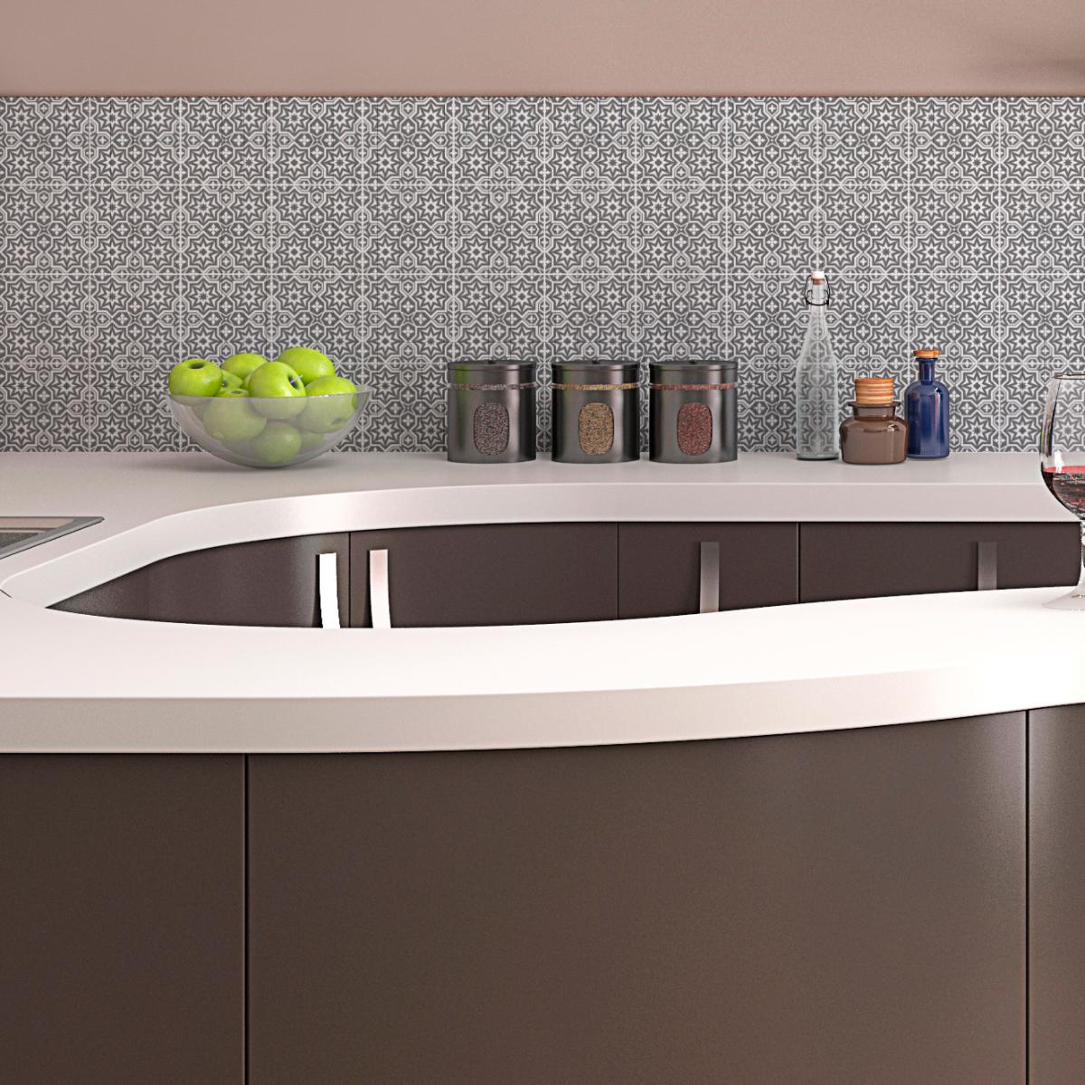 24 stickers carreaux de ciment oriental sousse cuisine. Black Bedroom Furniture Sets. Home Design Ideas