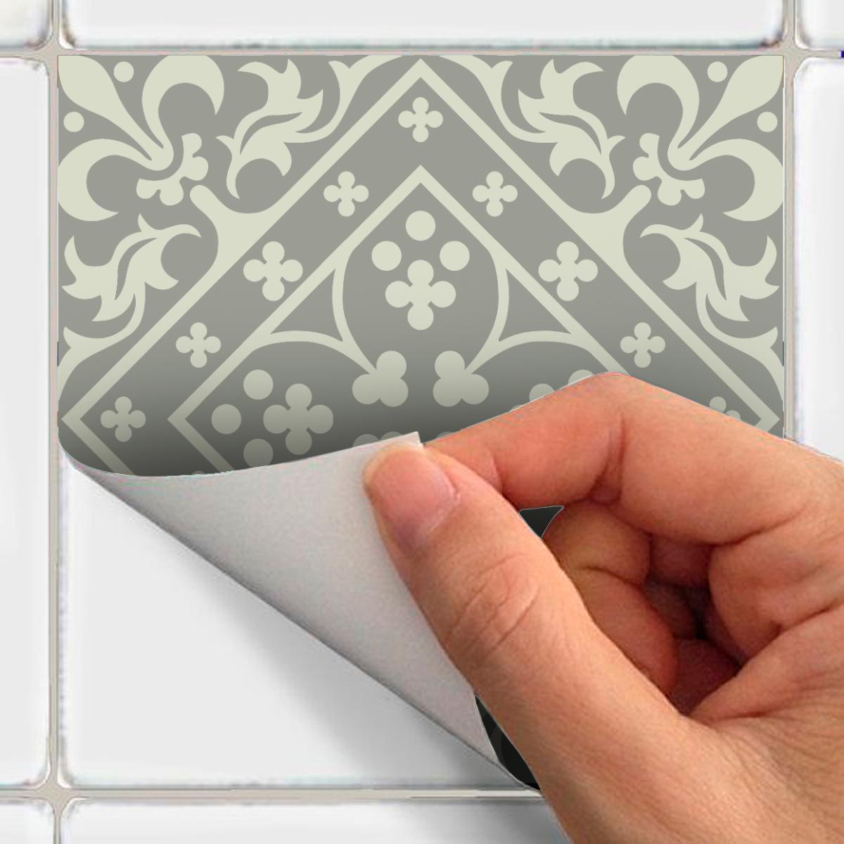 24 stickers carrelages azulejos amadeu cuisine - Stickers cuisine carrelage ...
