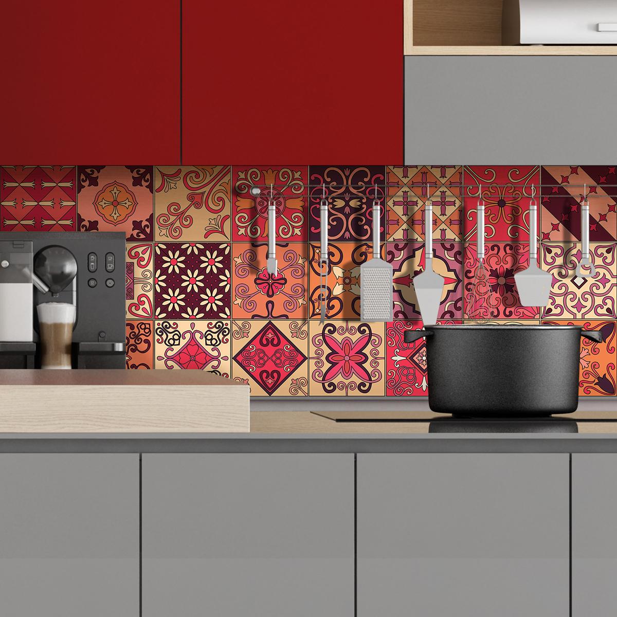 24 stickers carrelages azulejos eraldo cuisine - Stickers cuisine carrelage ...