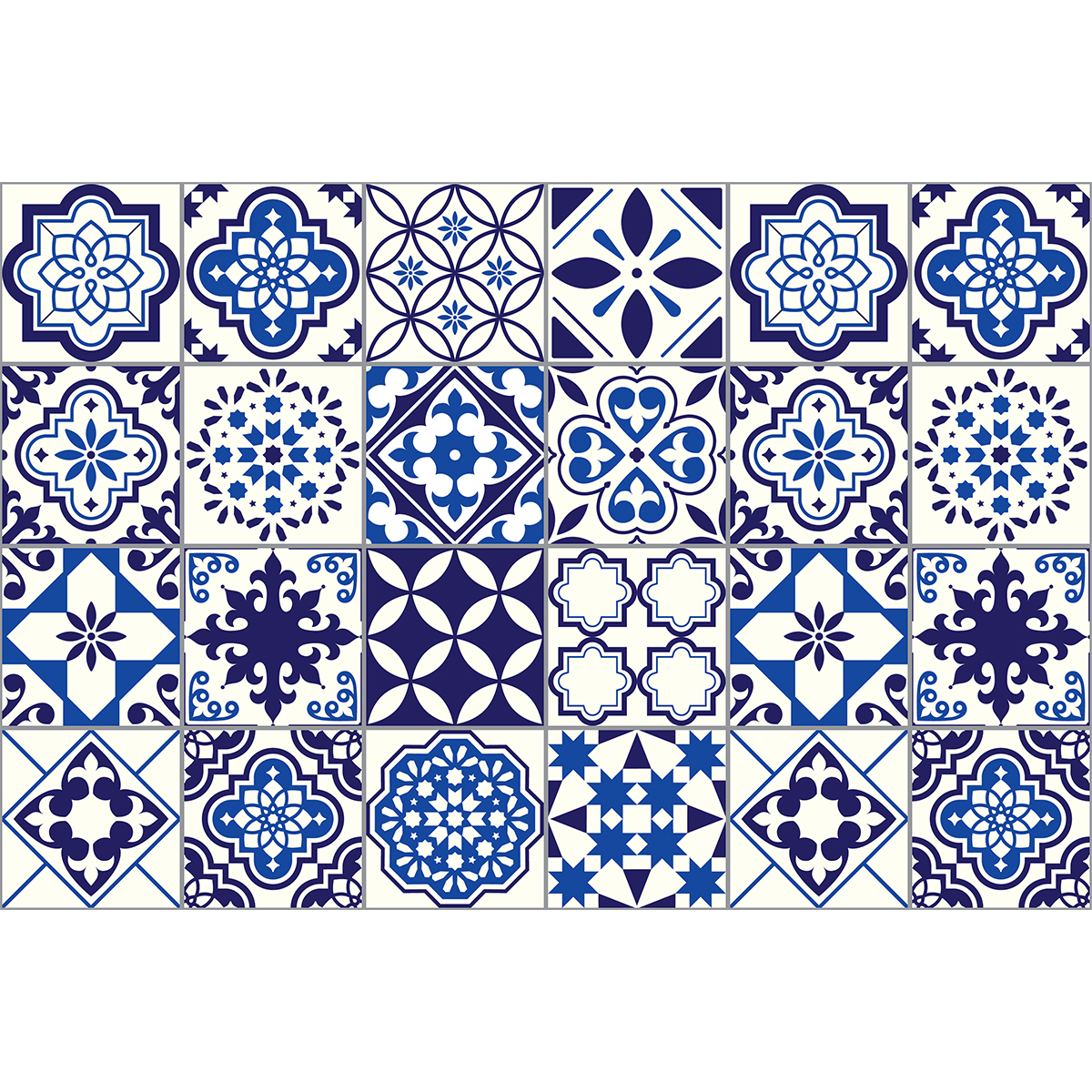 24 stickers carrelages azulejos eusebio stickers cuisine carrelages ambiance sticker - Stickers cuisine carrelage ...