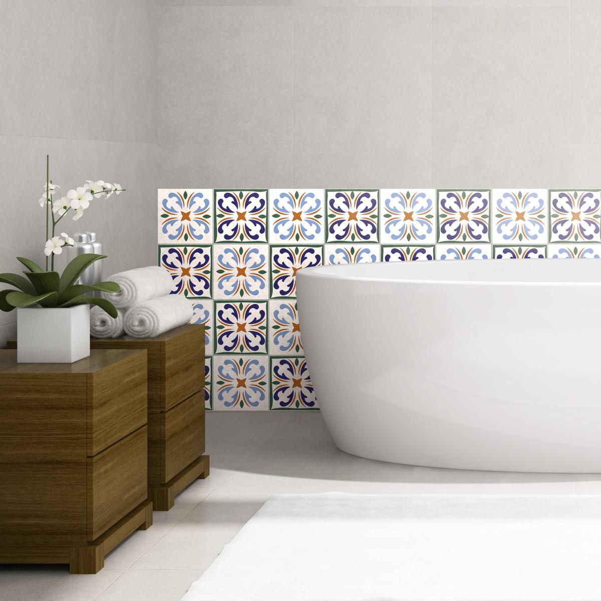 Murales tatuaje de pared Pegatina para cuartos de baño en letras