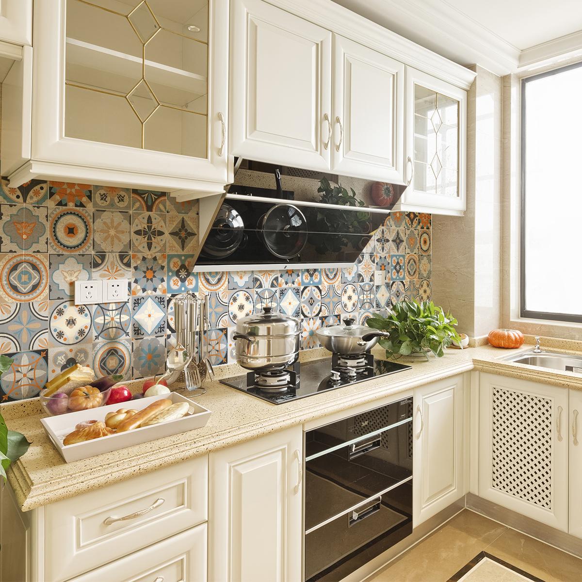 24 stickers carrelages azulejos grazelano cuisine - Stickers cuisine carrelage ...
