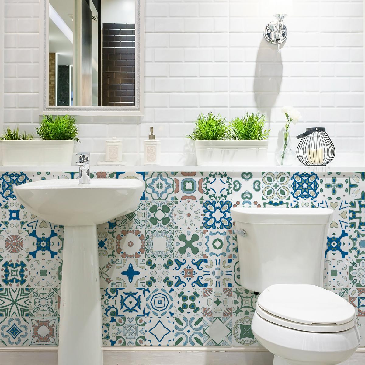 12 wandtatoos Zementfliesen azulejos irina Bilder