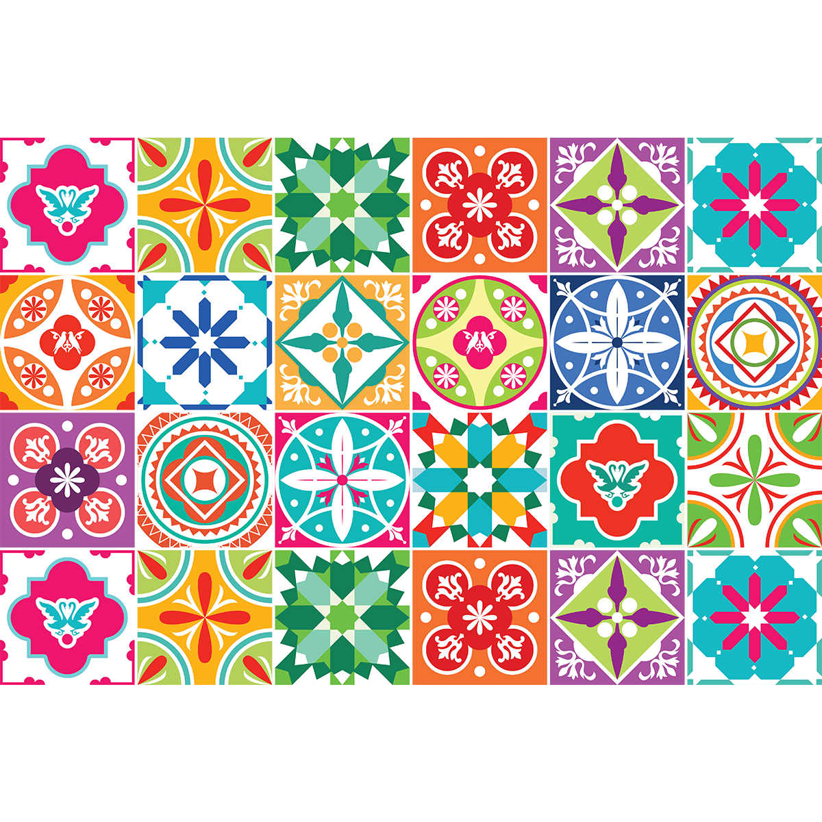 24 stickers carrelages azulejos pascalina cuisine carrelages ambiance sticker - Stickers cuisine carrelage ...
