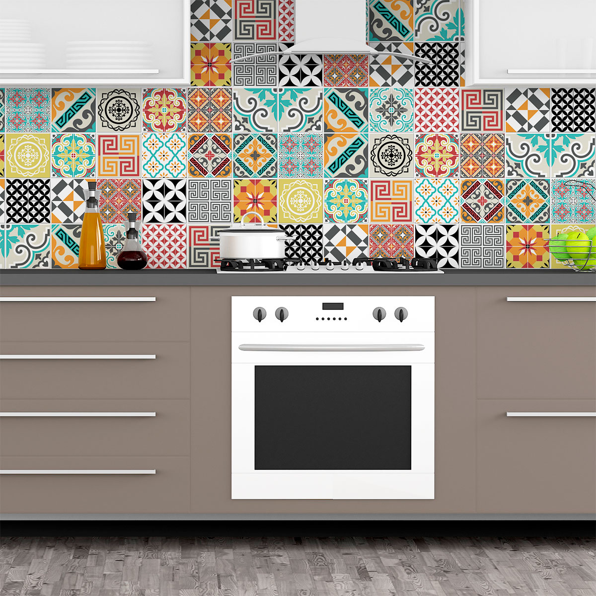 Stickers Carrelage Cuisine: 24 Stickers Carrelages Azulejos Tina