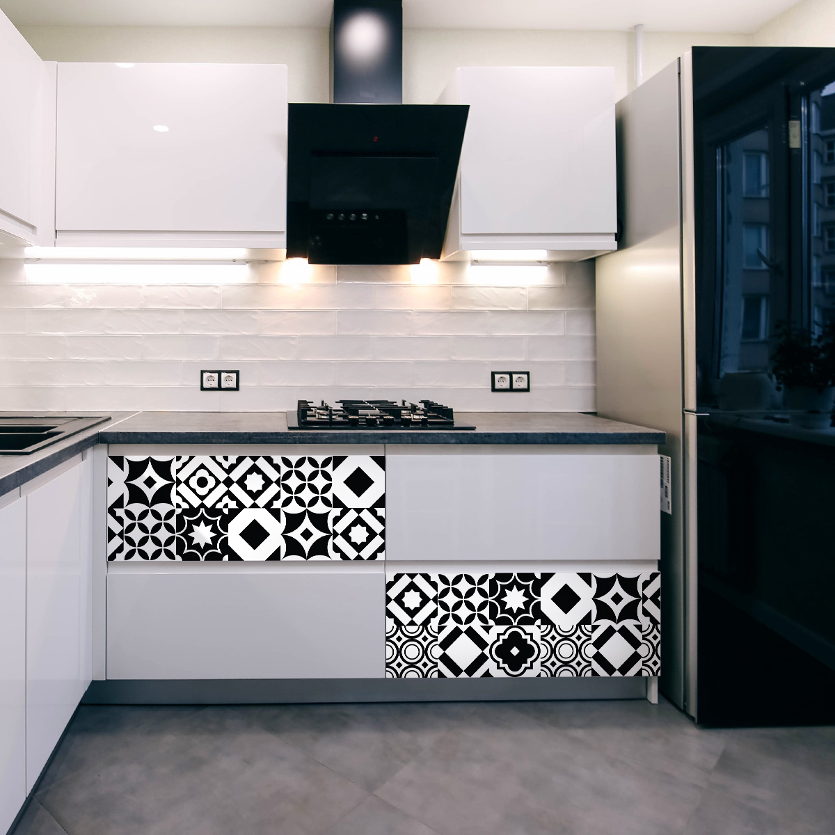 24 stickers carrelages meuble gartzia stickers cuisine. Black Bedroom Furniture Sets. Home Design Ideas
