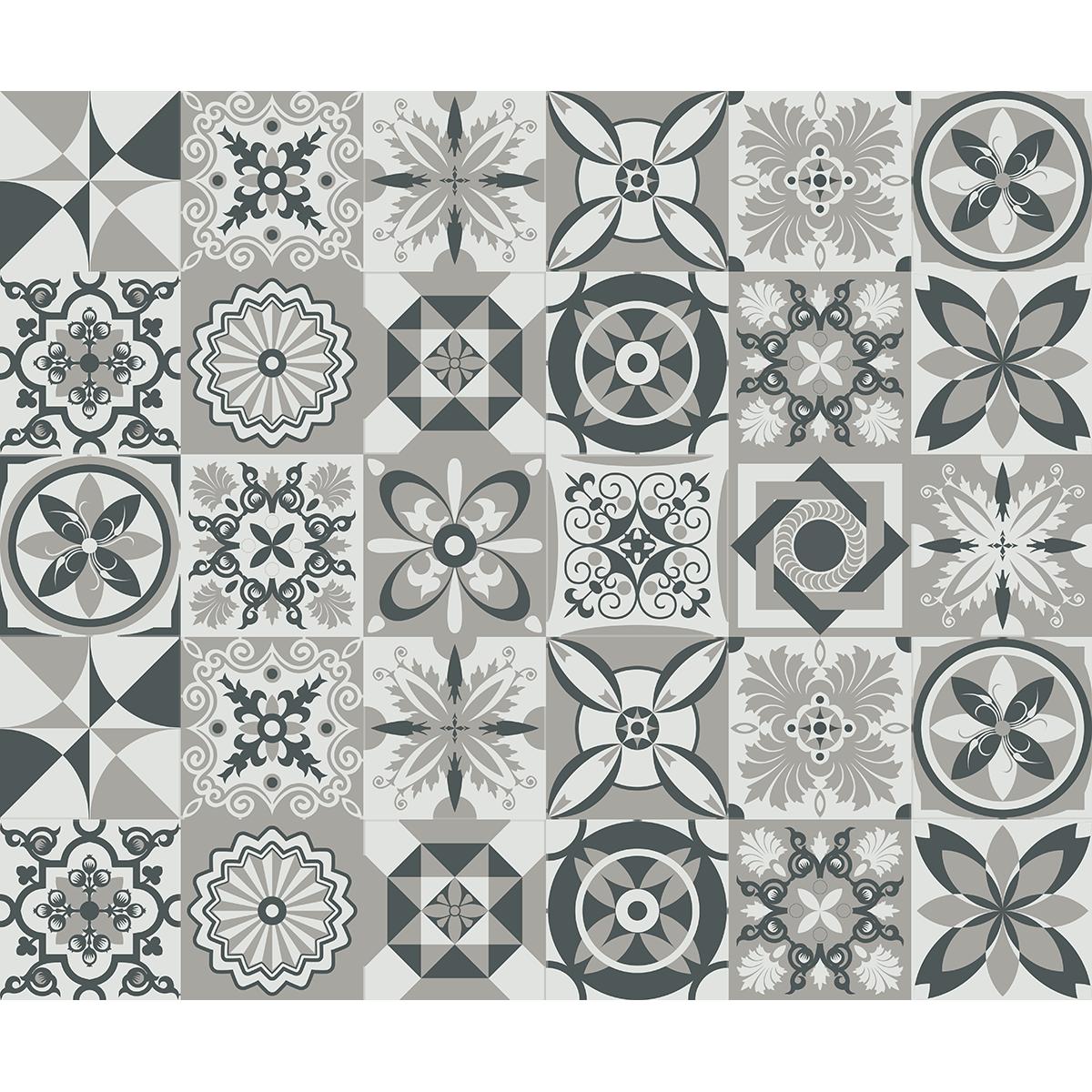30 stickers carreaux de ciment azulejos juonas cuisine carrelages ambiance sticker. Black Bedroom Furniture Sets. Home Design Ideas