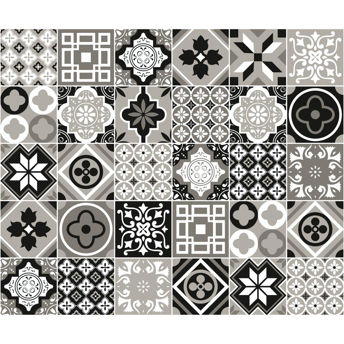 stickers carreaux de ciment salle de bain. Black Bedroom Furniture Sets. Home Design Ideas