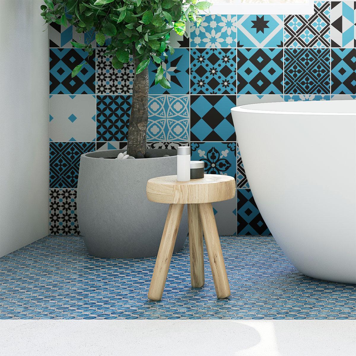 30 Wall Stickers Cement Tiles Azulejos Talia Quote Wall Bathroom Bathroom Walls Ambiance Sticker