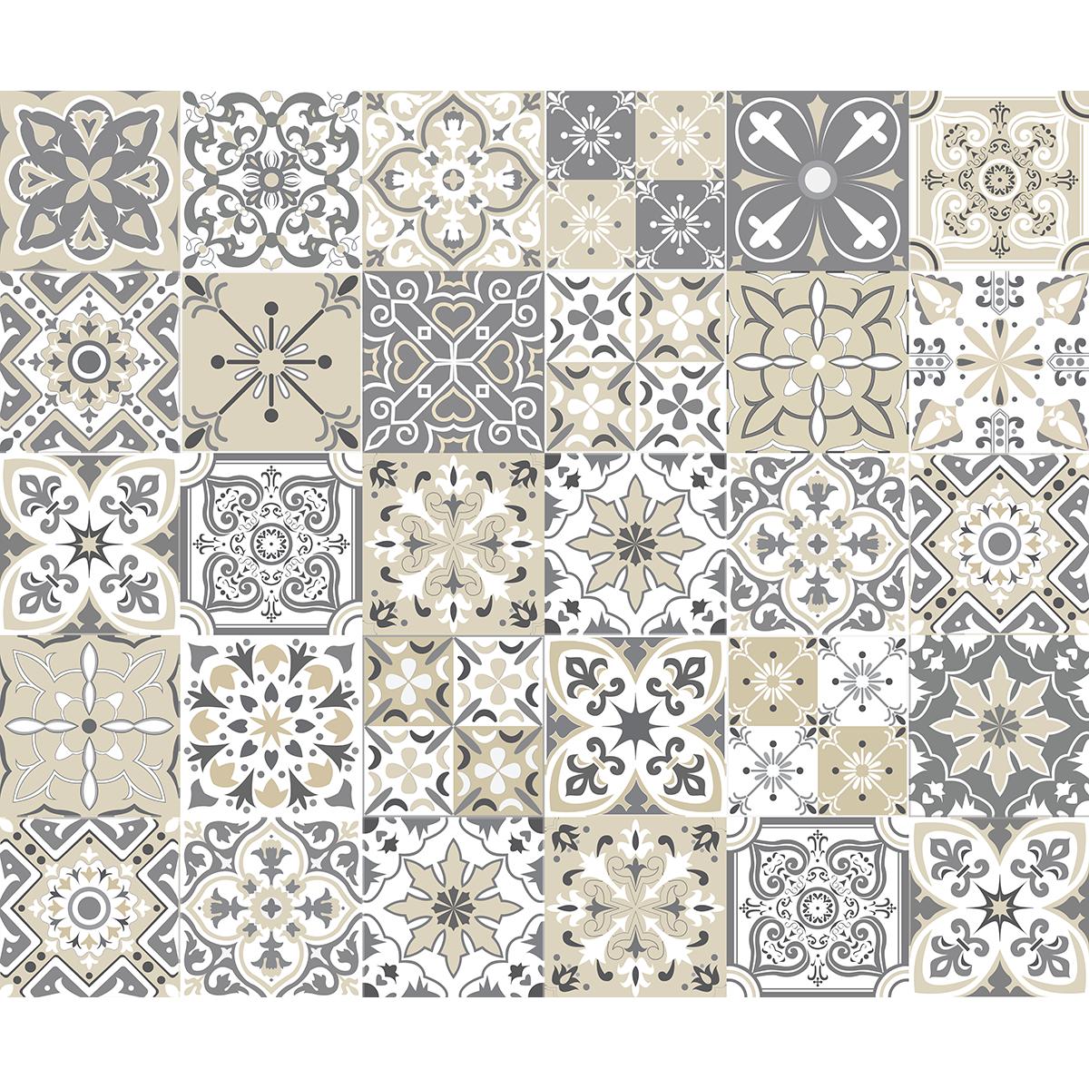 30 wandtatoos Zementfliesen azulejos turchi – WANDTATTOO