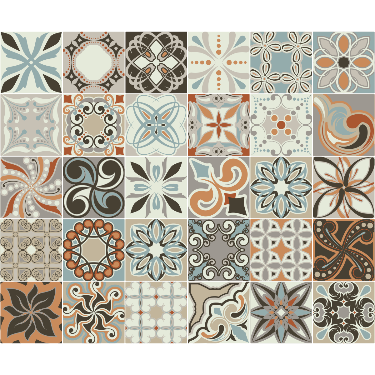 30 stickers carreaux de ciment bali stickers art et design artistiques ambiance sticker - Carreaux de ciment adhesif cuisine ...