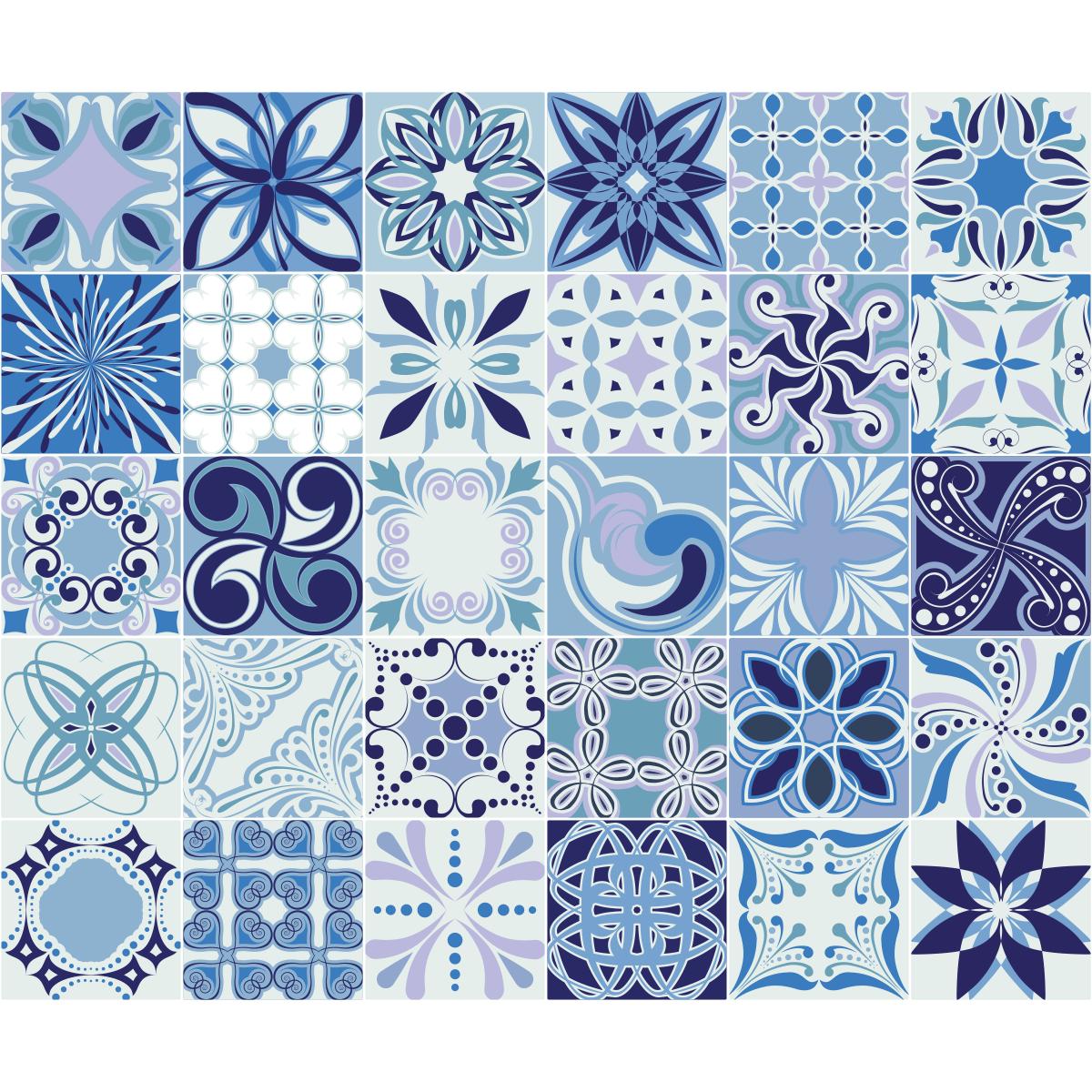 30 Stickers Carrelages Azulejos Madere Salle De Bain Et Wc Salle De Bain Ambiance Sticker