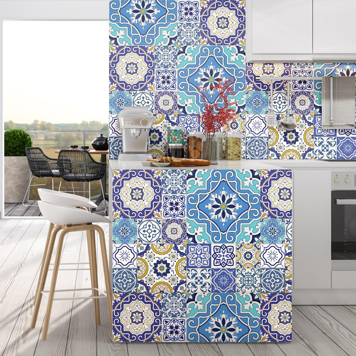 30 stickers carrelages azulejos mambo salle de bain et. Black Bedroom Furniture Sets. Home Design Ideas