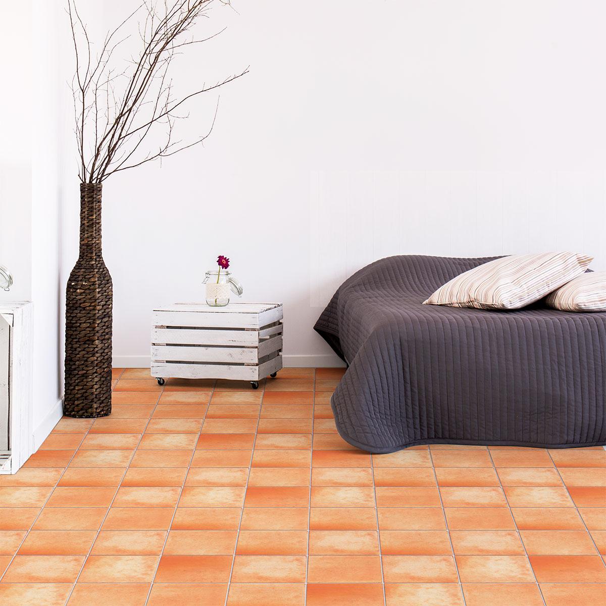 20 vinilos baldosas terracota suelo galeria antideslizante