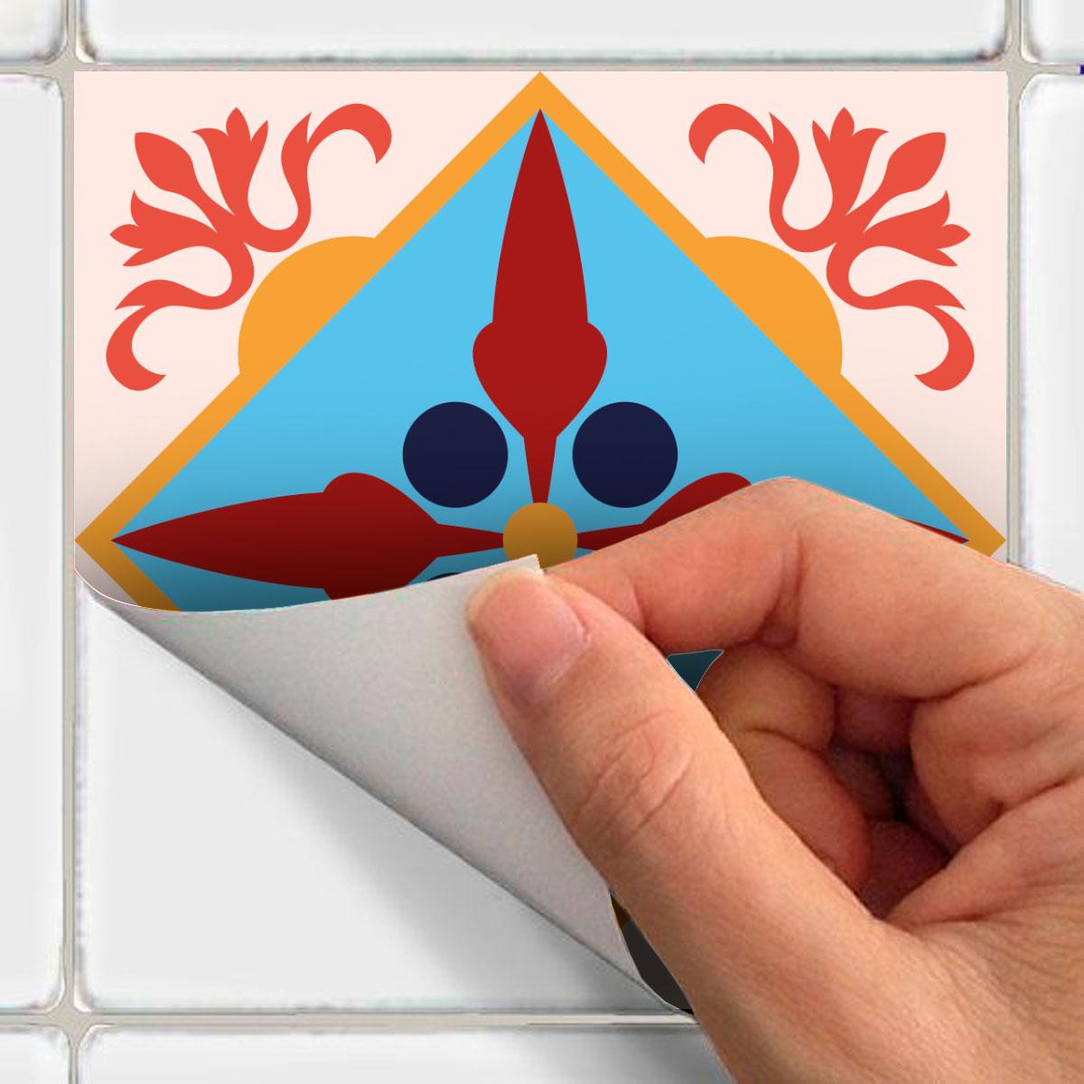 60 stickers carreaux de ciment azulejos vulmina cuisine carrelages ambiance sticker. Black Bedroom Furniture Sets. Home Design Ideas