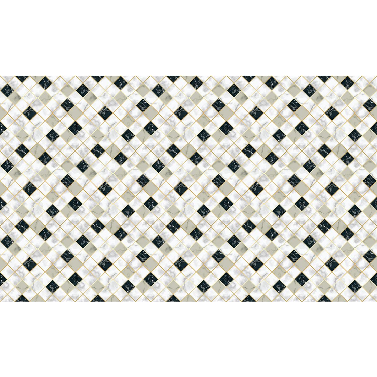 60 Stickers Carreaux De Ciment Effet Marbre Blanc Beige Et Noir Stickers Cuisine Carrelages Ambiance Sticker