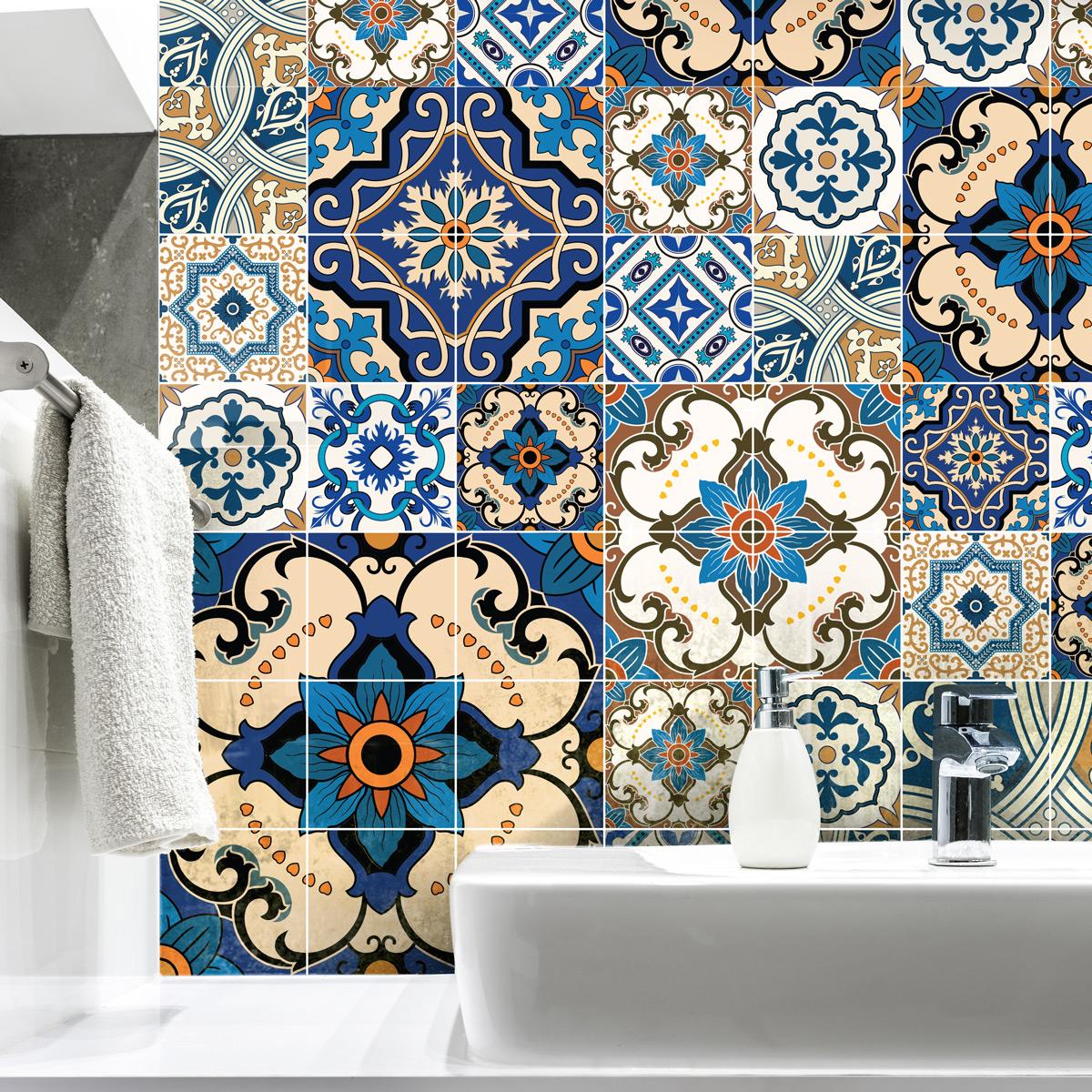 60 stickers carreaux de ciment toundra salle de bain et wc salle de bain ambiance sticker
