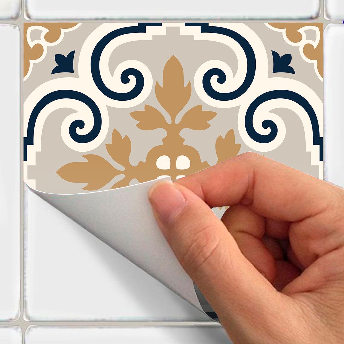 60 stickers carrelages azulejos althia cuisine - Stickers cuisine carrelage ...