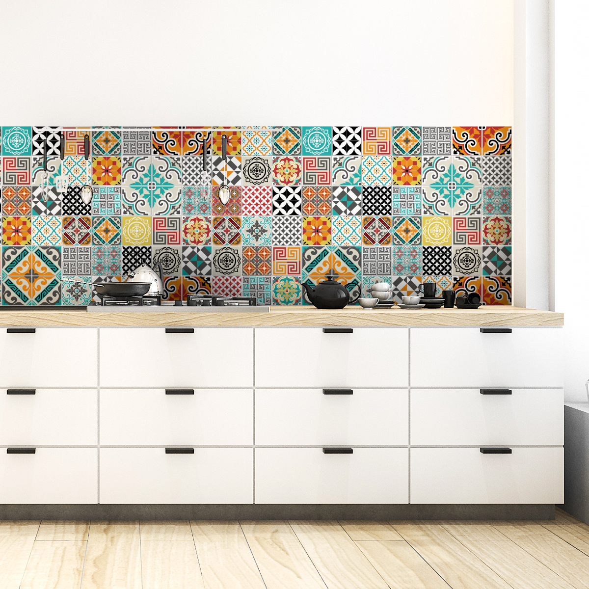 Stickers Carrelage Cuisine: 60 Stickers Carrelages Azulejos Batista