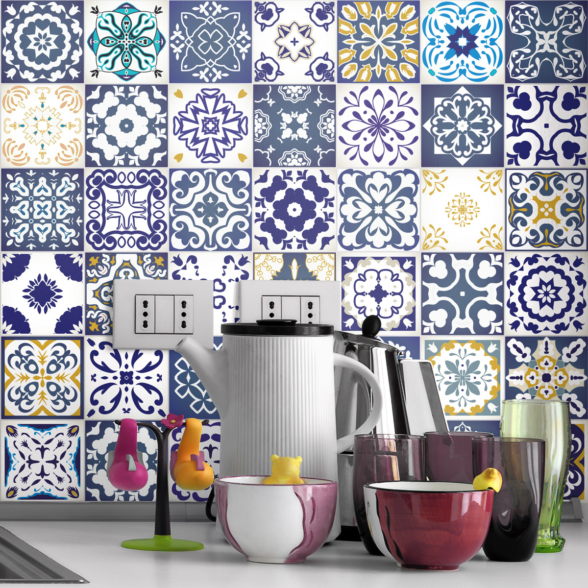 60 Stickers Carrelages Azulejos Cyprus Salle De Bain Et Wc Salle