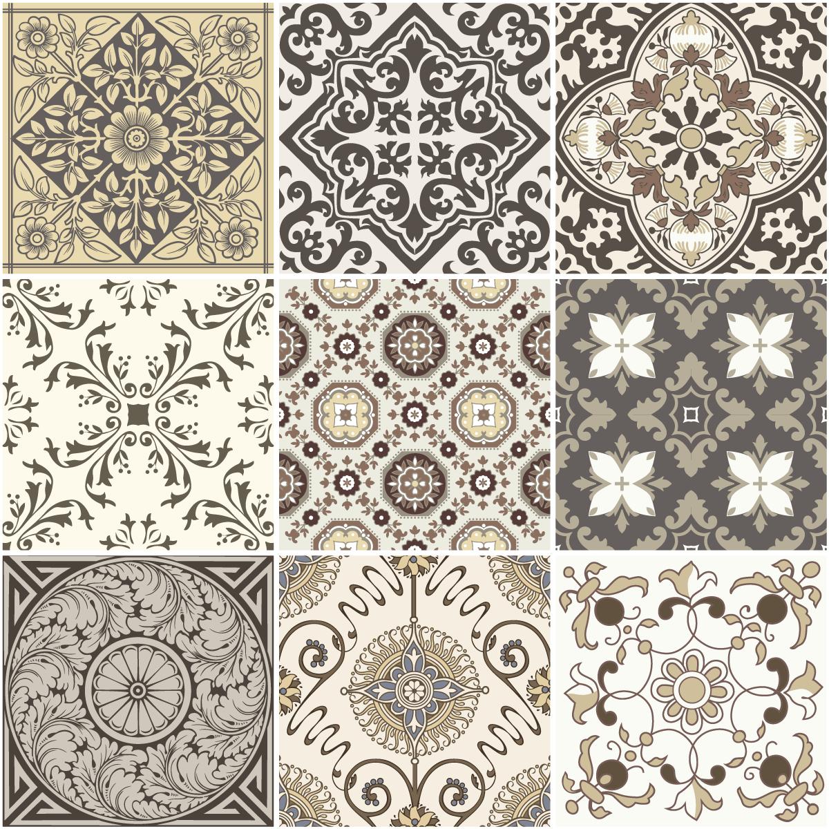 9 stickers carreaux de ciment anc ne salle de bain et wc. Black Bedroom Furniture Sets. Home Design Ideas