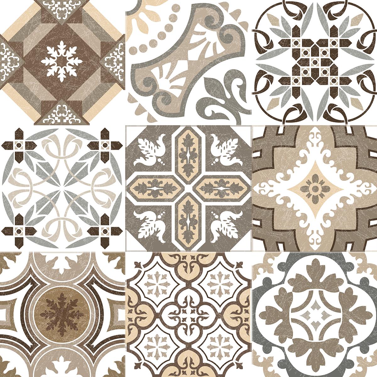 Tapisserie Carreaux De Ciment 9 stickers carreaux de ciment authentiques rithana