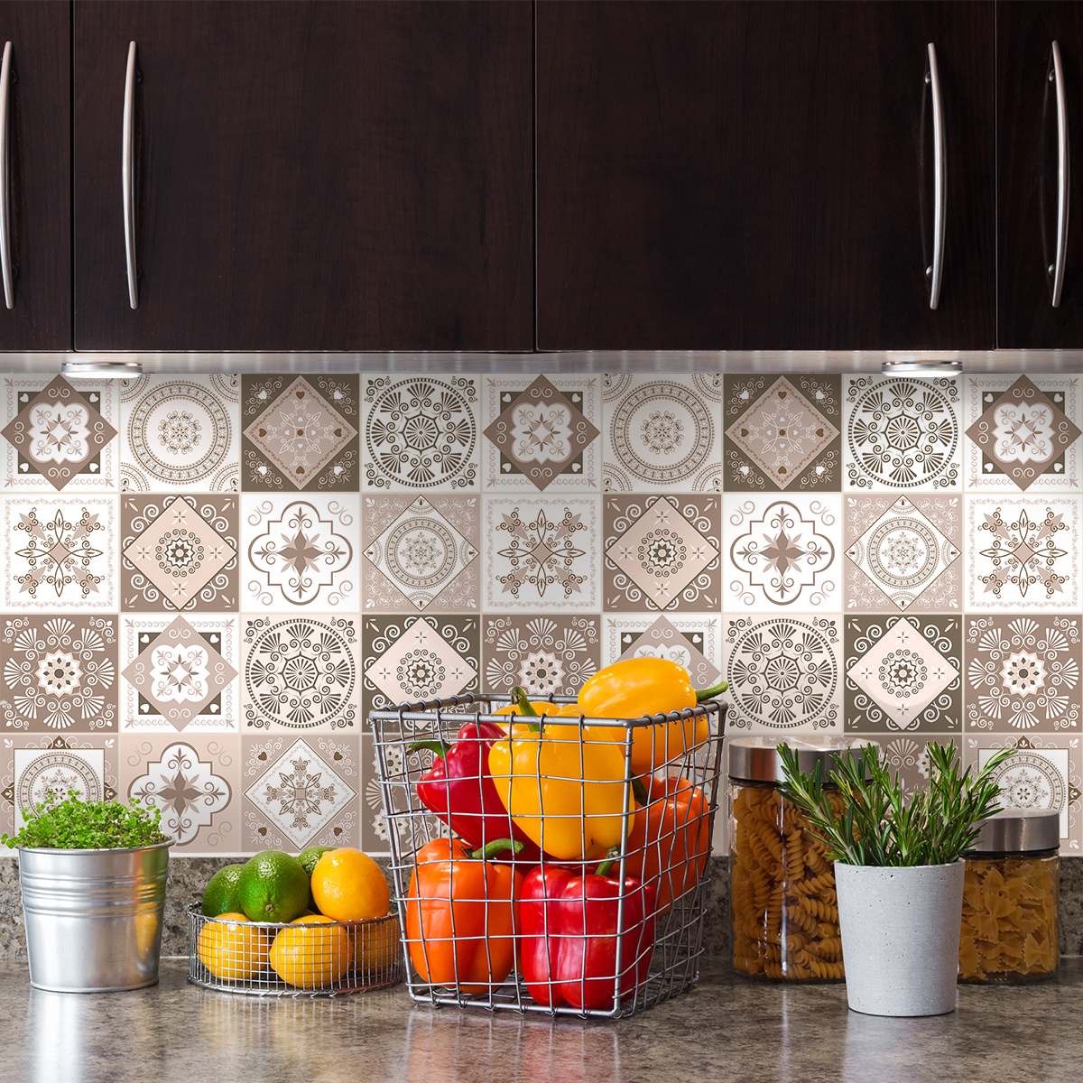 9 stickers carreaux de ciment azulejos aniolo stickers. Black Bedroom Furniture Sets. Home Design Ideas