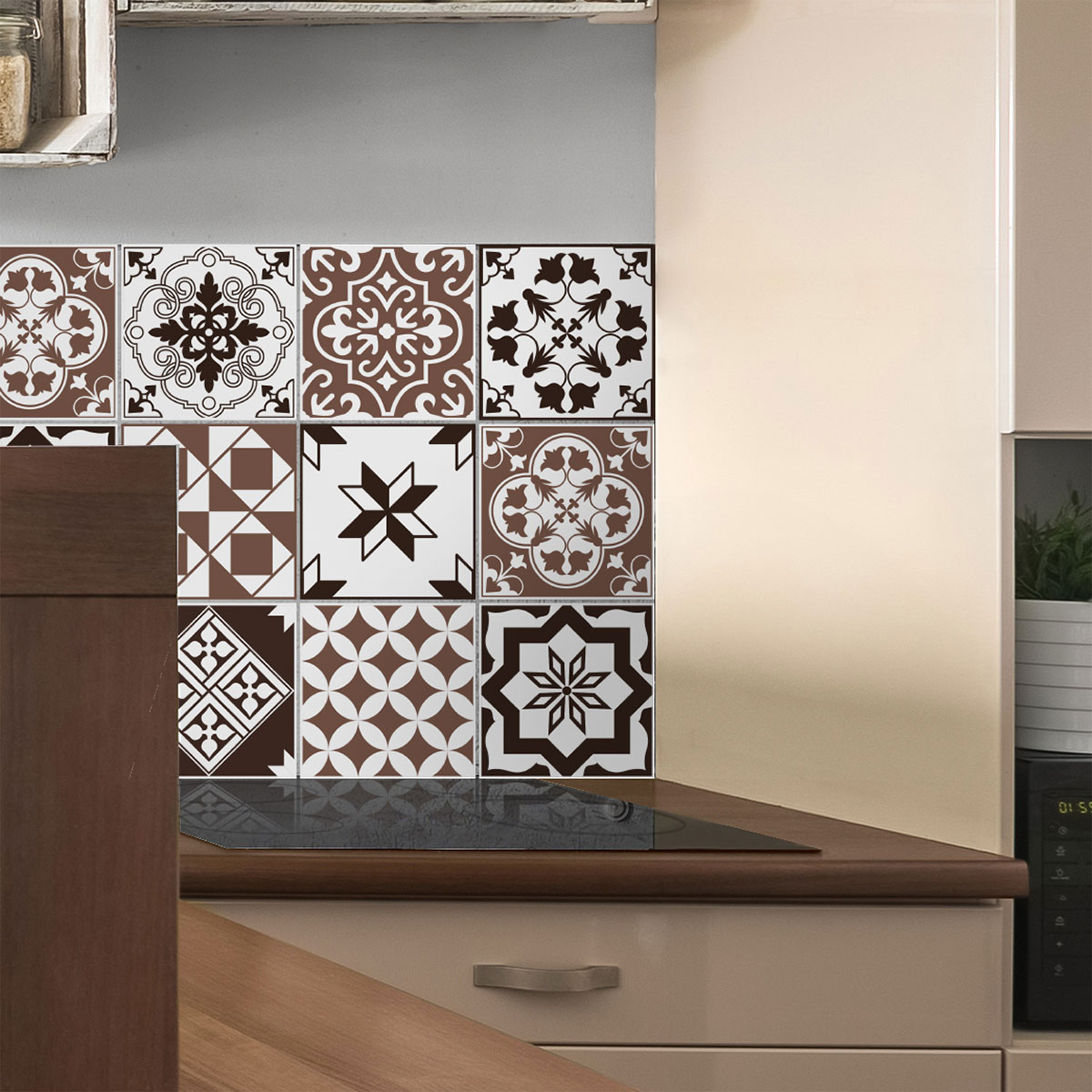 9 stickers carreaux de ciment azulejos eurasio cuisine carrelages ambiance sticker. Black Bedroom Furniture Sets. Home Design Ideas