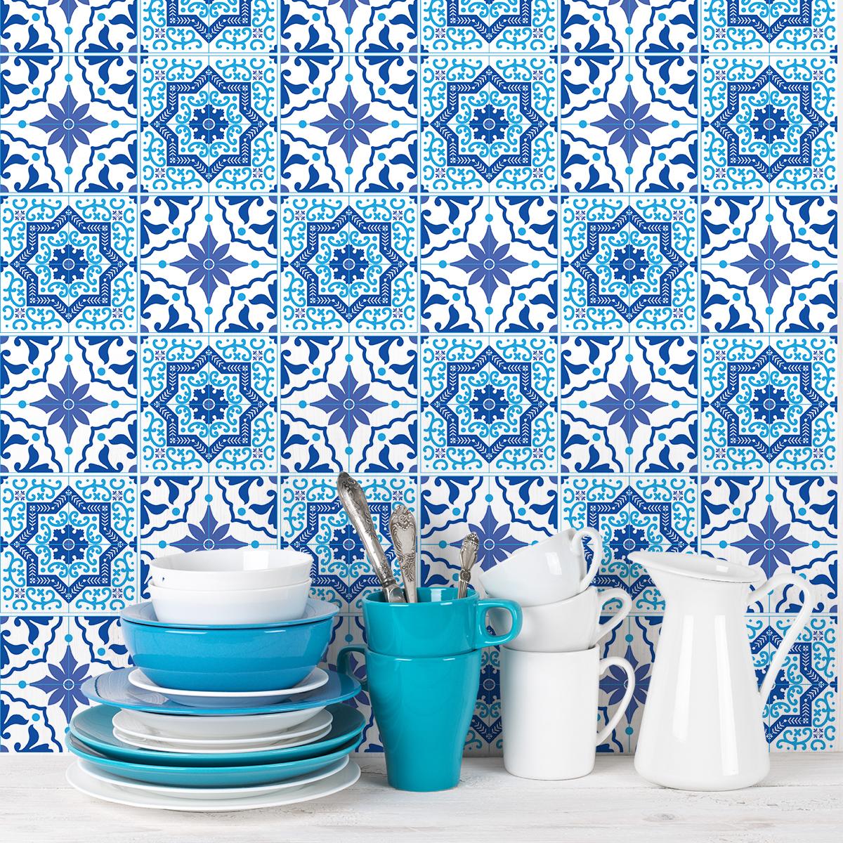 9 stickers carreaux de ciment azulejos juan pablo. Black Bedroom Furniture Sets. Home Design Ideas