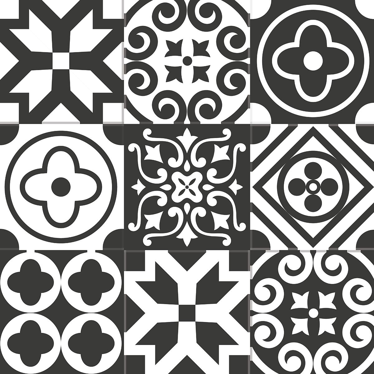 9 stickers carreaux de ciment azulejos lenzo cuisine. Black Bedroom Furniture Sets. Home Design Ideas