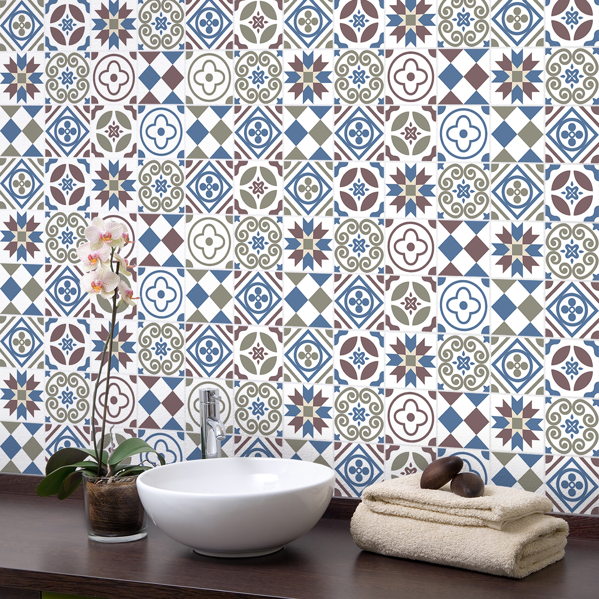 9 stickers carreaux de ciment azulejos liticina cuisine carrelages ambiance sticker. Black Bedroom Furniture Sets. Home Design Ideas