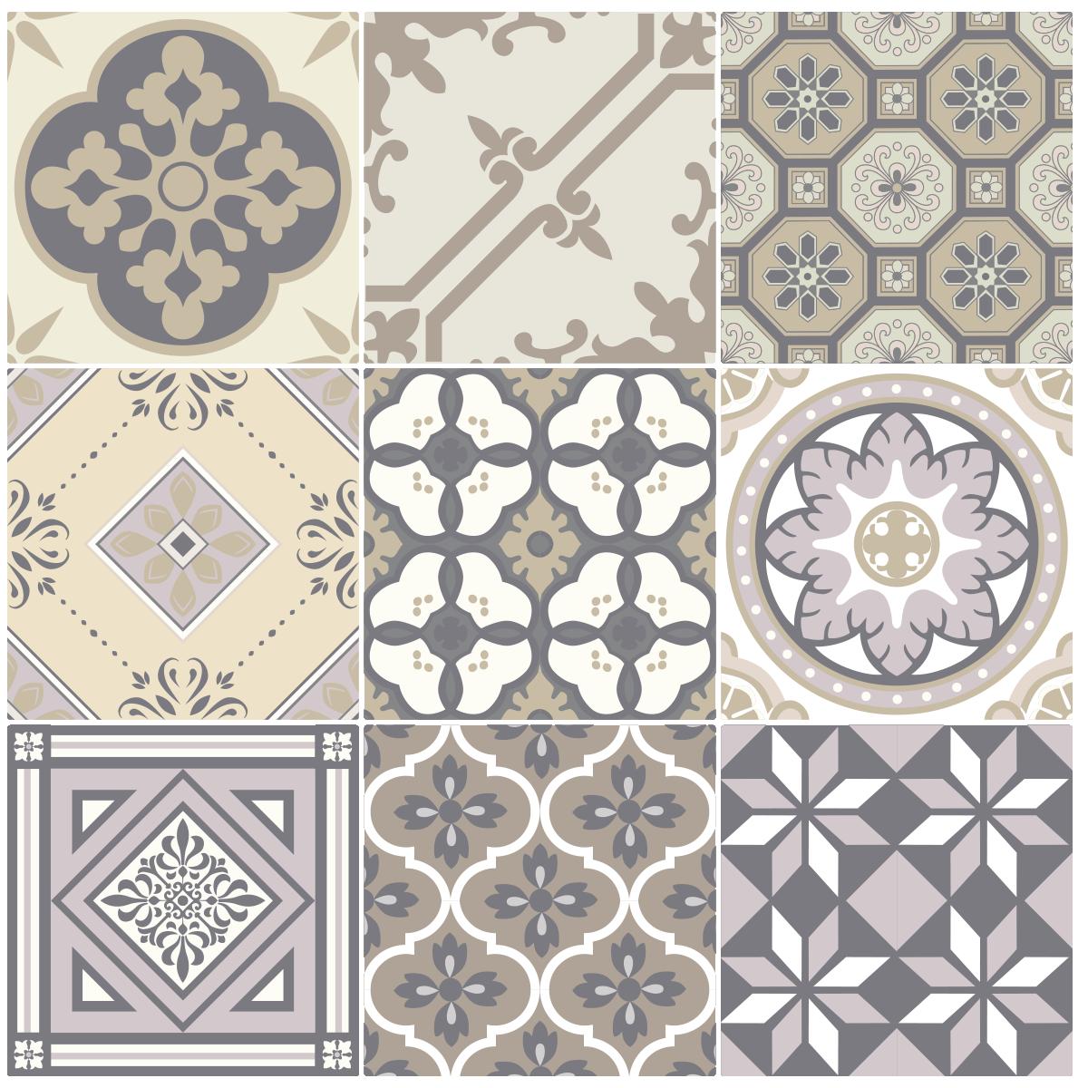9 stickers carreaux de ciment champ tre stickers art et design artistiques ambiance sticker - Carreaux de ciment adhesif cuisine ...
