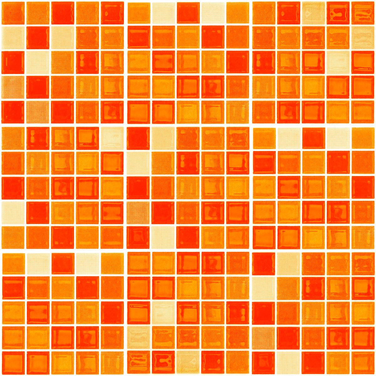 9 Stickers Carreaux De Ciment Mosa 239 Ques Nuance Orange