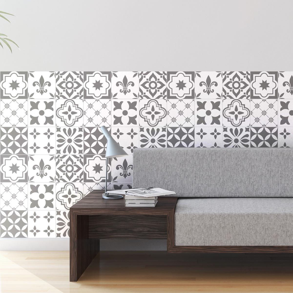 9 stickers carreaux de ciment sivas salle de bain et wc salle de bain ambiance sticker. Black Bedroom Furniture Sets. Home Design Ideas