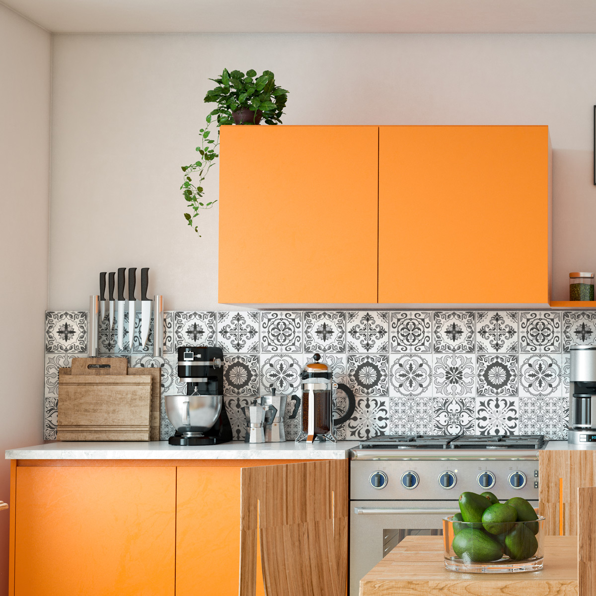 9 stickers carrelages azulejos christoph - STICKERS CUISINE Carrelages - Ambiance-sticker
