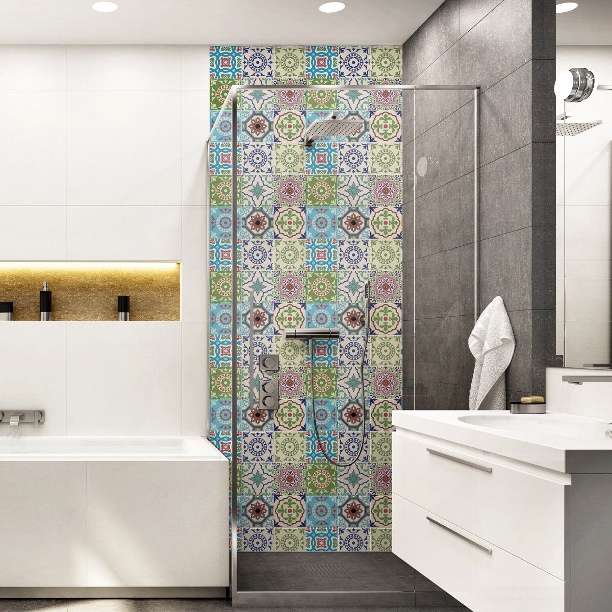 9 stickers carrelages azulejos Kizomba - SALLE DE BAIN ET WC Salle de bain - Ambiance-sticker