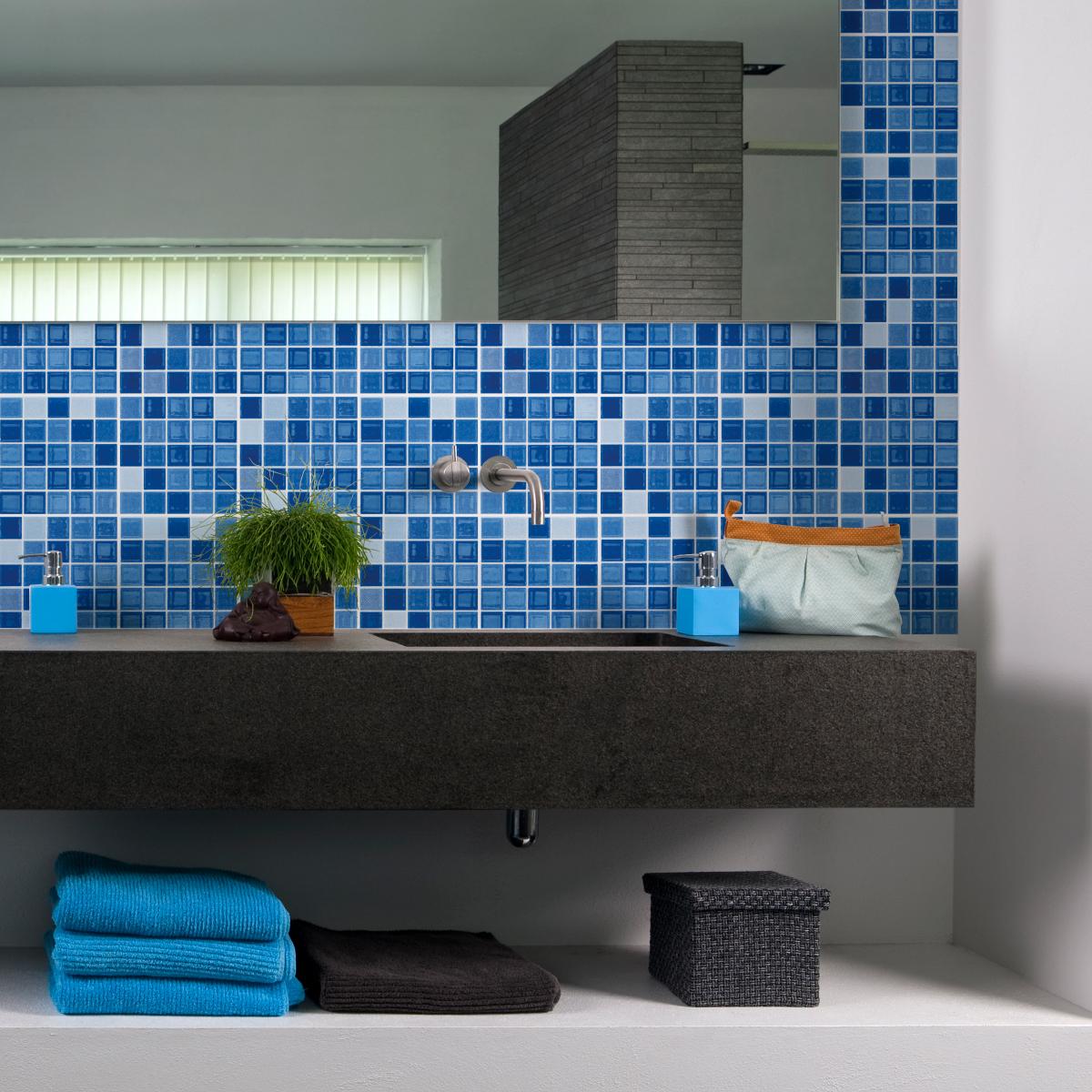 Maison Salle de bain, textiles Carrelage images adhésif ...