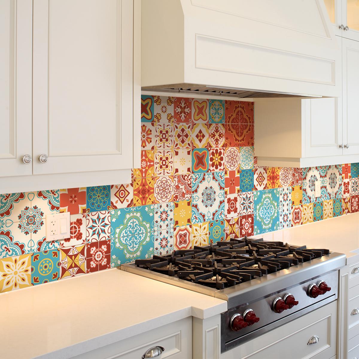 9 stickers carrelages azulejos ottavio cuisine carrelages ambiance sticker. Black Bedroom Furniture Sets. Home Design Ideas