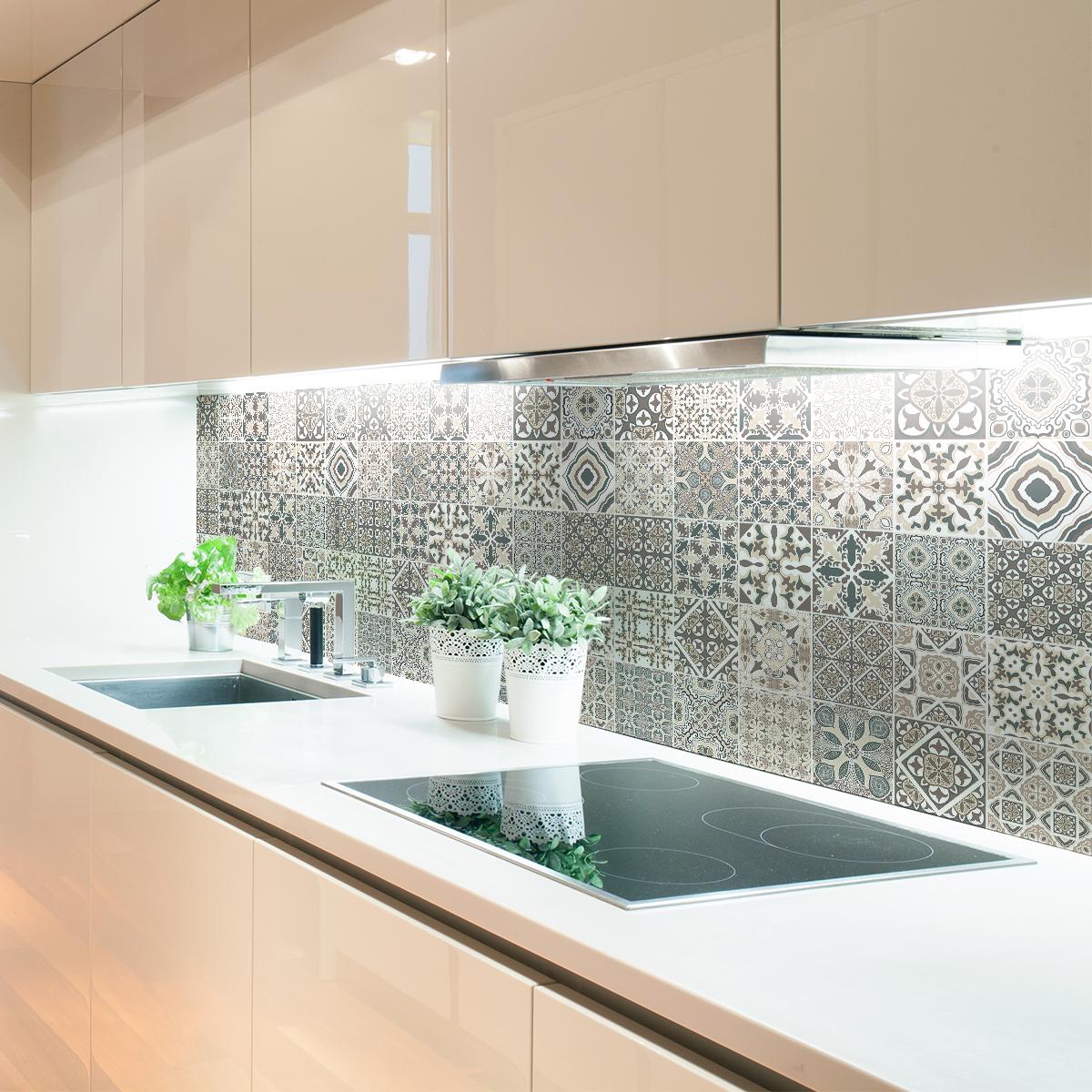 9 stickers carrelages azulejos pascalino cuisine - Stickers cuisine carrelage ...
