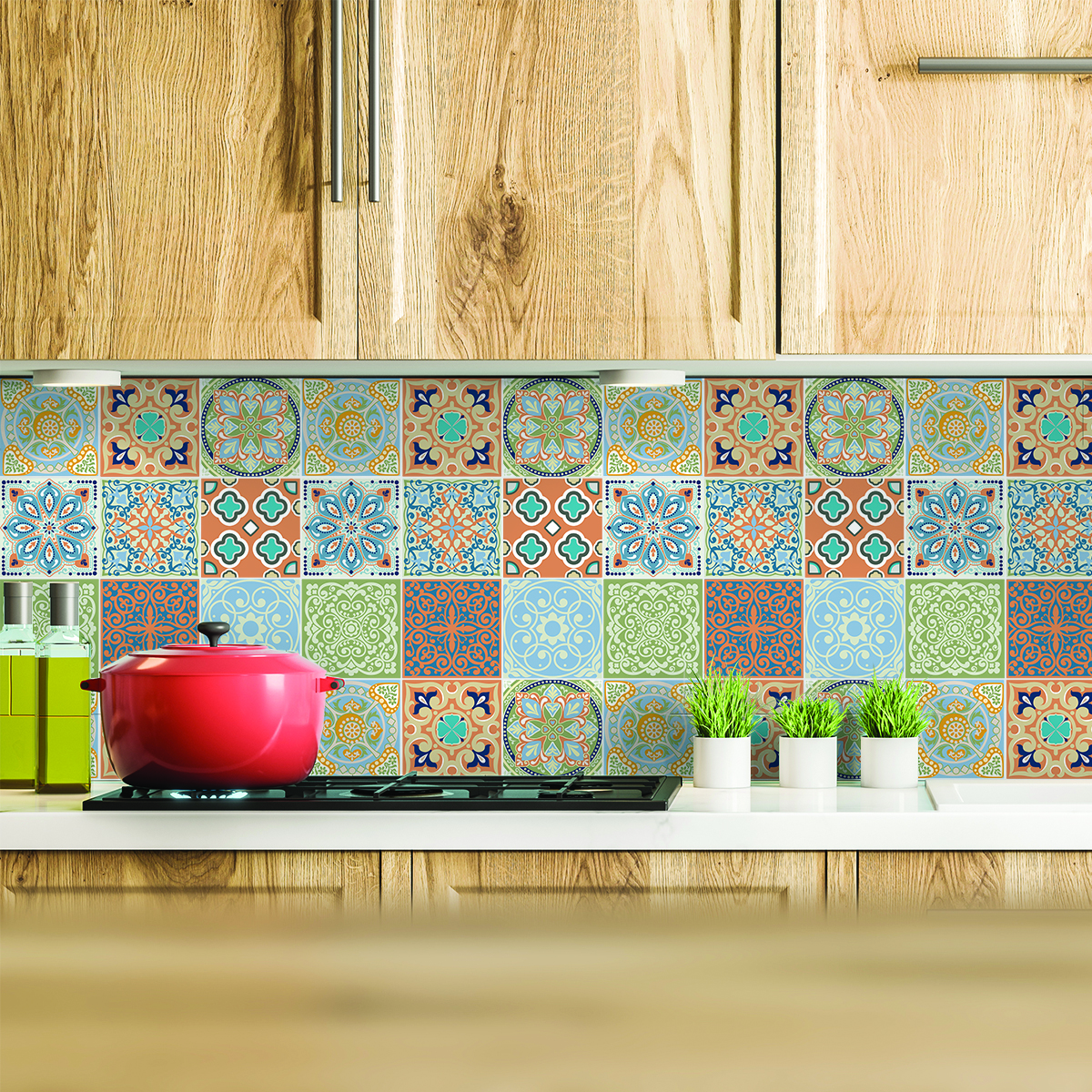 Stickers Carrelage Cuisine: 9 Stickers Carrelages Azulejos Scotino