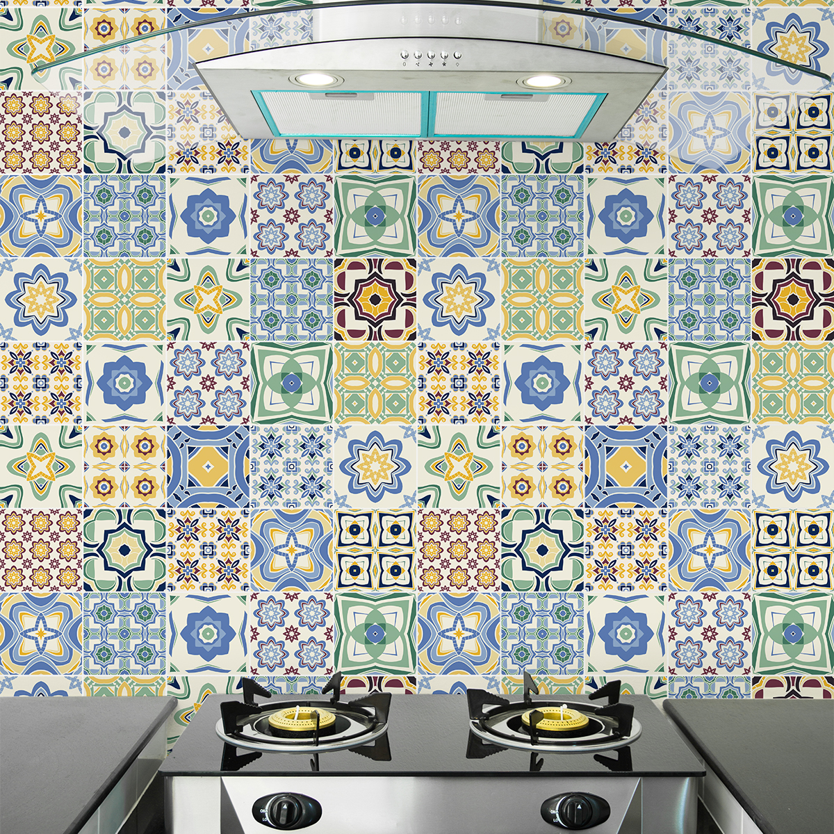 Stickers Carrelage Cuisine: 9 Stickers Carrelages Azulejos Serena