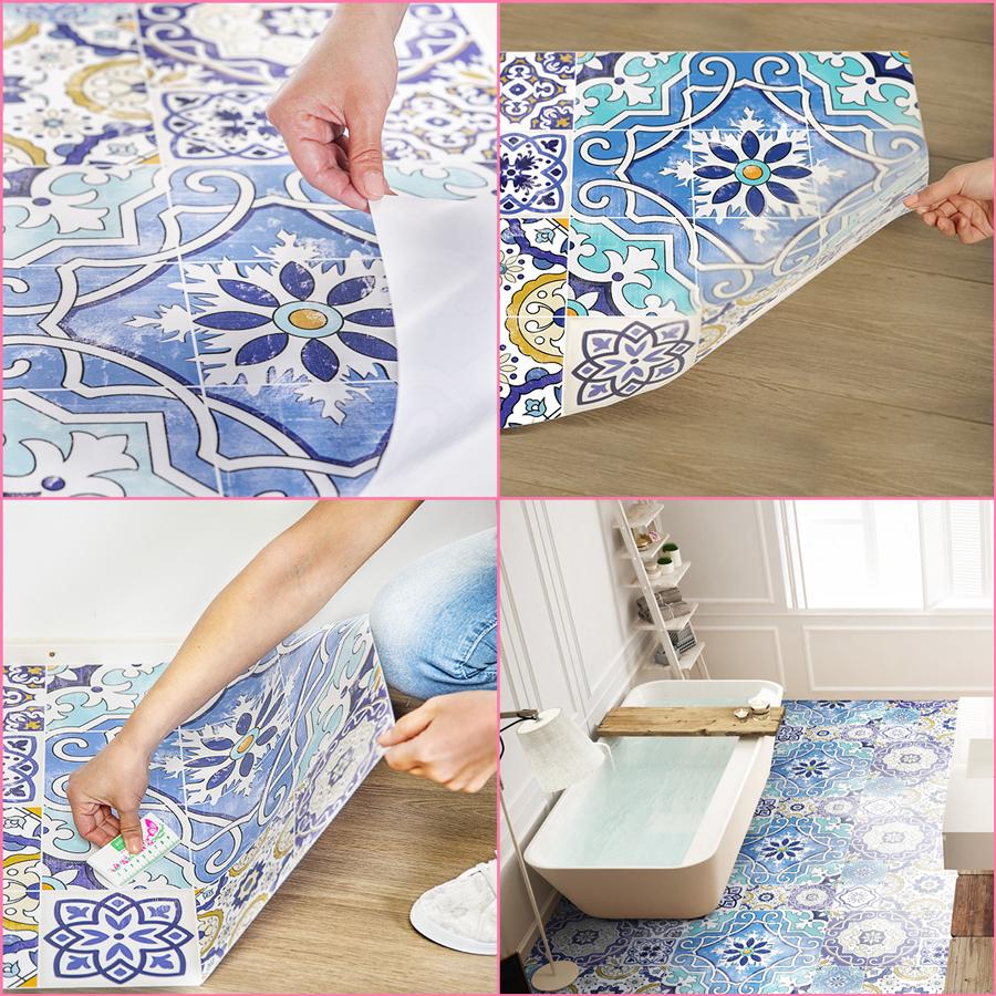 stickers sol carrelages rosaria anti d rapant stickers. Black Bedroom Furniture Sets. Home Design Ideas