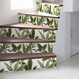 Vinilo escalera tropical
