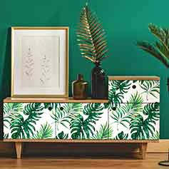 Stickers meuble tropical