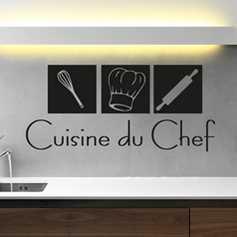 Stickers cuisine pour la décoration de la cuisine en stickers muraux.