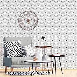 Graphic adhesive wallpaper stickers