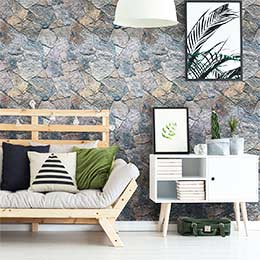 Adhesive wallcovering stickers