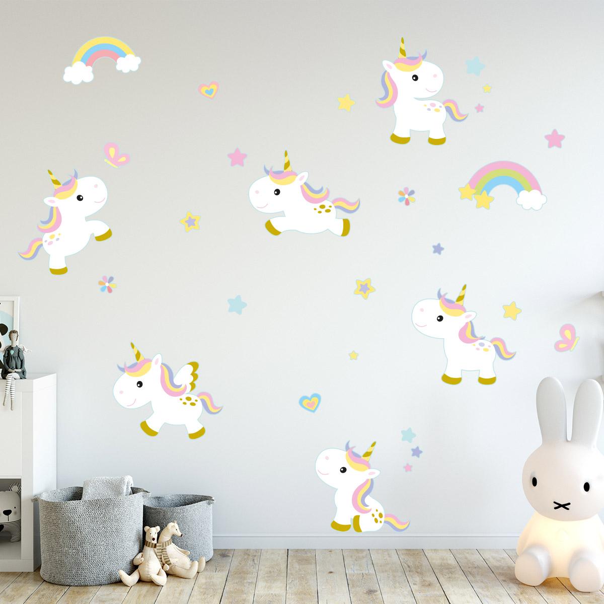 Stickers Pour Fenetre Chambre sticker 6 licornes bébés