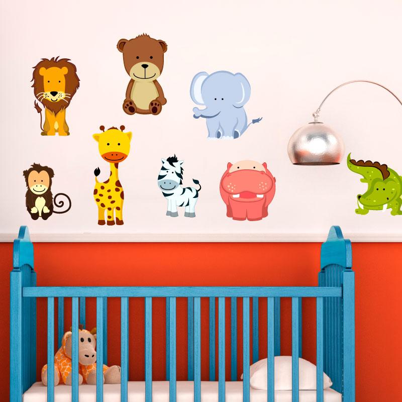 Sticker 8 animaux de la jungle – Stickers Animaux Animaux d\'Afrique ...