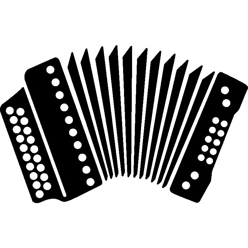 Dessin Accordéon stickers muraux musique - sticker accordéon | ambiance-sticker